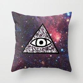Illuminati Galaxy Throw Pillow