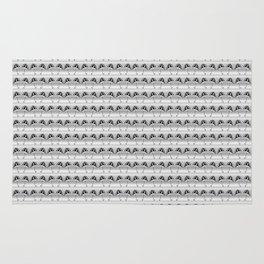 Cute Black White Umbrella Pattern Rug