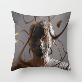 Abstract Portrait ll Throw Pillow