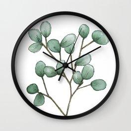 Silver Dollar Eucalyptus Wall Clock