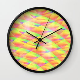 Bright Interference Wall Clock