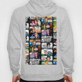 Faces of Who (Black) Hoody