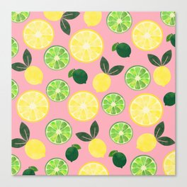 Lemon Lime in Pink Canvas Print