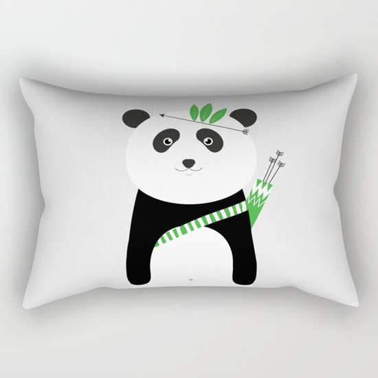 Be brave - panda Rectangular Pillow