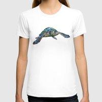 sea turtle T-shirts featuring Sea Turtle by Tim Jeffs Art