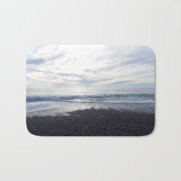 Rodeo Beach with Killer Clouds Bath Mat
