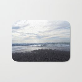 Rodeo Beach with Killer Clouds Bath Mat