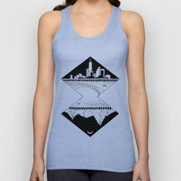 City by the Mountains Unisex Tank Top