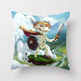 The Flying Skeleton Throw Pillow