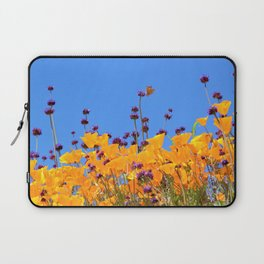 Painted Lady Butterfly loving the Superblooms of Spring by Reay of Light Photography Laptop Sleeve