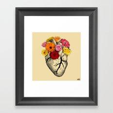 Flower Heart Framed Art Print