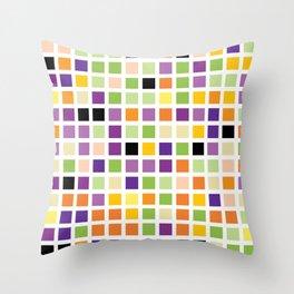 City Blocks - Eggplant #490 Throw Pillow