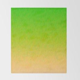 Green Orange Yellow Ombre Flame Throw Blanket