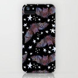 Super Cute Kawaii Bats and Stars Pattern iPhone Case