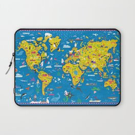 Big Fun World Map Laptop Sleeve