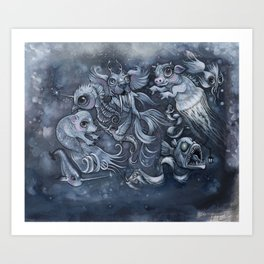Hybrid Sea Creature Lovage Art Print