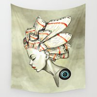 manga Wall Tapestries featuring Moth 2 by Freeminds