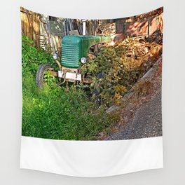 Abandoned agricultural vehicle   conceptual photography Wall Tapestry
