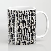 knit Mugs featuring Maze Knit by JoAnna Seiter