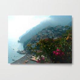 Amalfi Positano Coast Metal Print