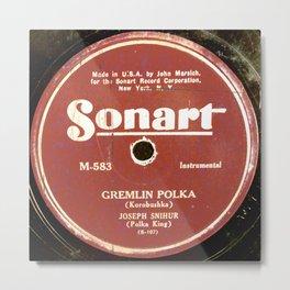 Polka - Vintage Vinyl Metal Print