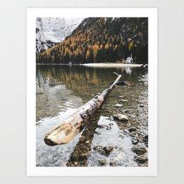 braies lake Art Print
