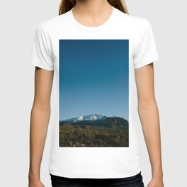 Snowy Superstition Mountains in Arizona T-shirt
