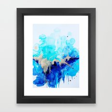Abstract  Gold Blue  Framed Art Print