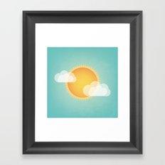 Sun in the Sky Framed Art Print