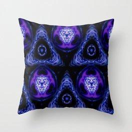 Subatomic Madness Pattern Throw Pillow