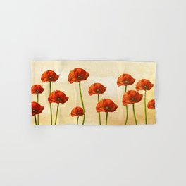 Where the Poppies Bloom Hand & Bath Towel