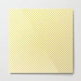 Vibrant Yellow Polka Dots Metal Print