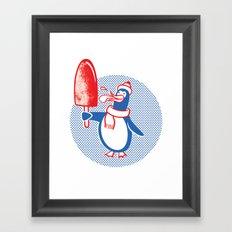 Popsicle Penguin Framed Art Print