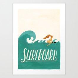 Surfboard Art Print