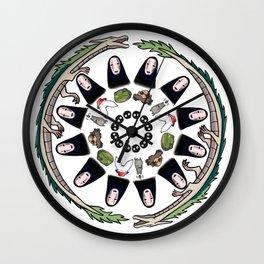 SPIRITED AWAY MANDALA Wall Clock