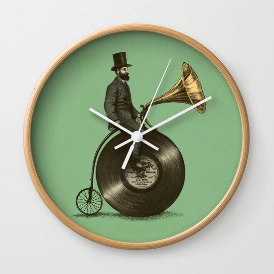 Music Man (Green Option) Wall Clock