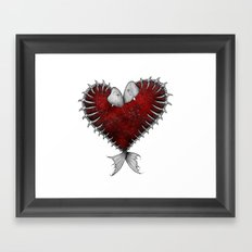 Heart - Fish Framed Art Print