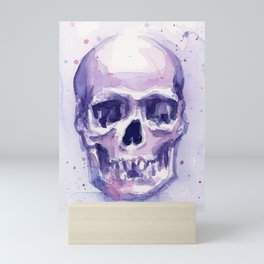 Skull Watercolor Skulls Mini Art Print
