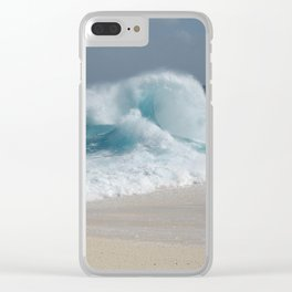 Wave curl Clear iPhone Case