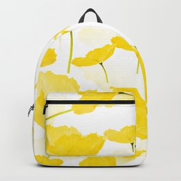 Light Yellow Poppies Spring Summer Mood #decor #society6 #buyart Backpack