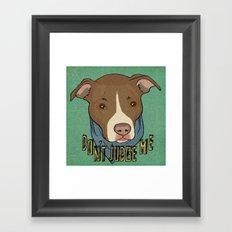 Pit bull Pride Framed Art Print