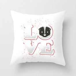 Skunk Nature Cute Funny Animal Gift Idea Throw Pillow