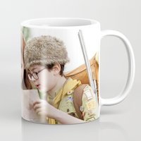 moonrise kingdom Mugs featuring MOONRISE KINGDOM by VAGABOND