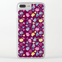 Cute Red Pandas Pattern Clear iPhone Case