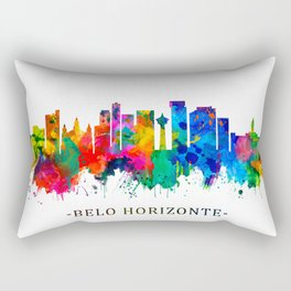 Belo Horizonte Brazil Skyline Rectangular Pillow