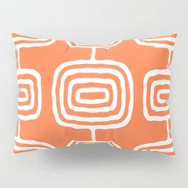 Mid Century Modern Atomic Rings Pattern 771 Orange Pillow Sham