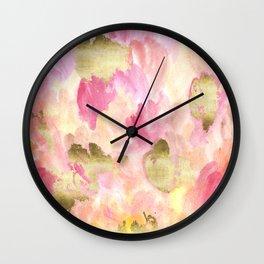 Gold Tulips Wall Clock