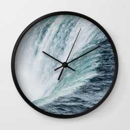 Landscape Photography | Niagara Falls | Waterfall | Aqua | Mist | Fog | Blue | Marine Wall Clock