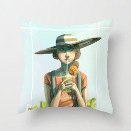 Sunhat Throw Pillow