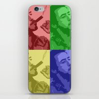 robert downey jr iPhone & iPod Skins featuring Robert Downey Jr by Mental Activity